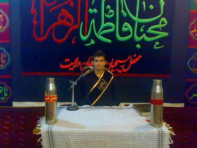 شهید محمّد علی دولت آبادی، هیئت محبان فاطمه زهرا(س)