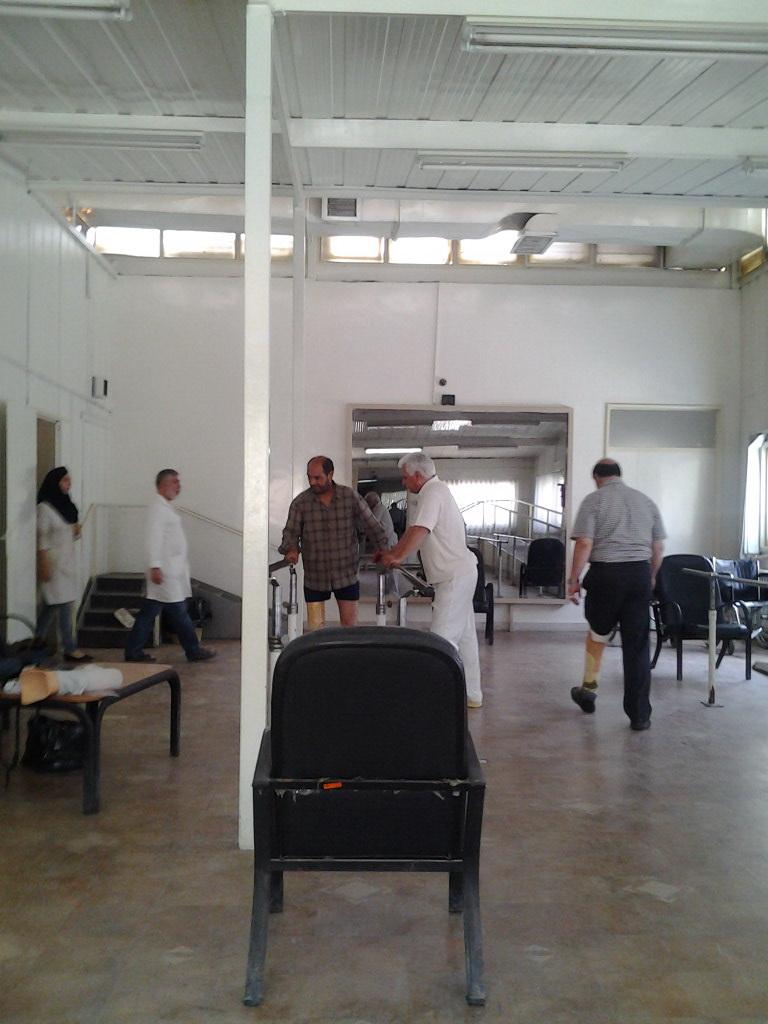 سالن تمرین مرکز ساخت اورتز و پروتز