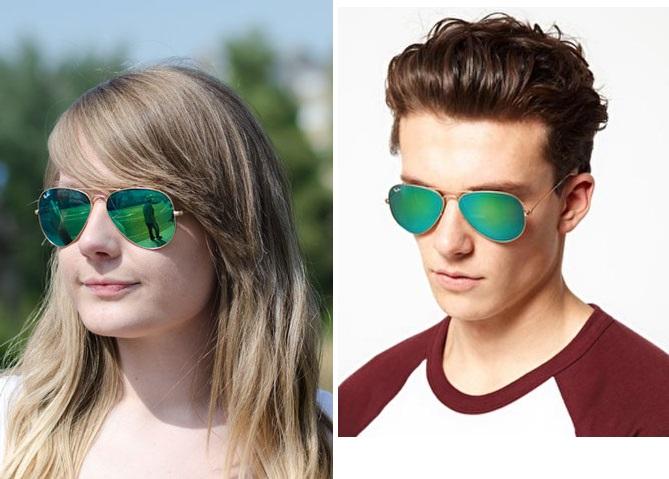 عینک ریبن مردانه و زنانه شیشه سبز