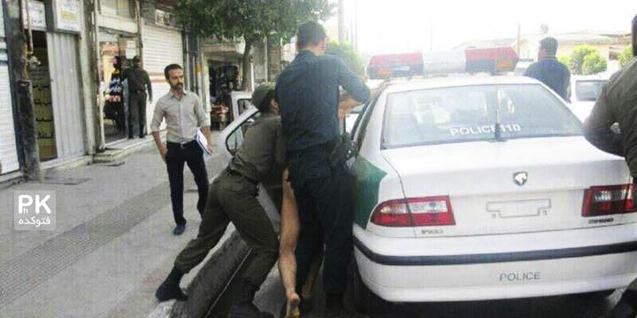 لخت شدن مردی در خیابان چالوس
