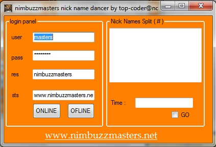 Nimbuzzmasters™ NickName dancer Nick_namee