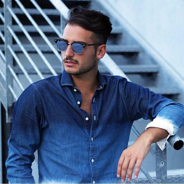 خرید عینک آفتابی ریبن شیشه آبی
