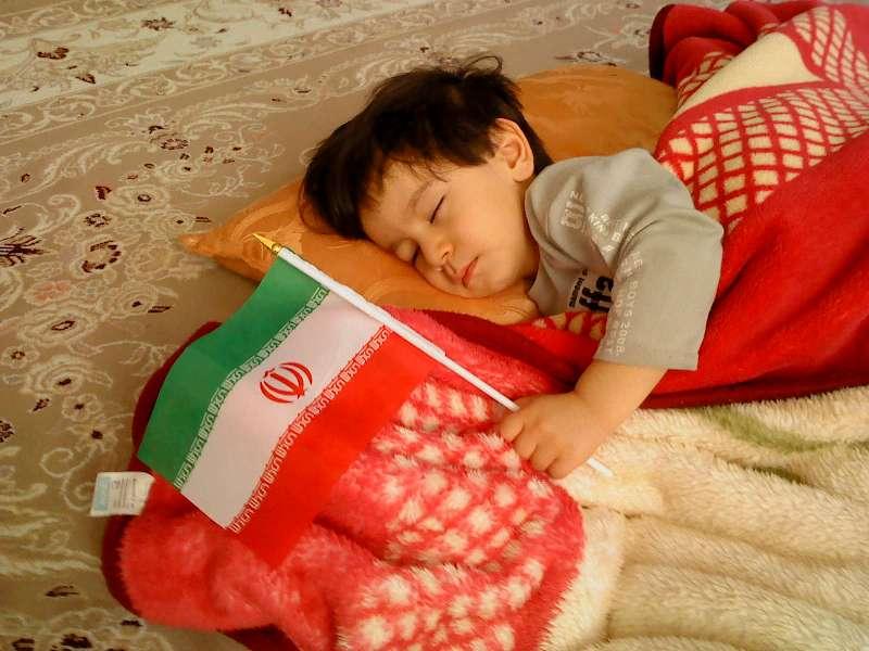 محمدحسین و پرچم ایران