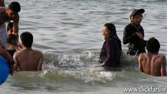 عکس های بی حجابی دریا شمال