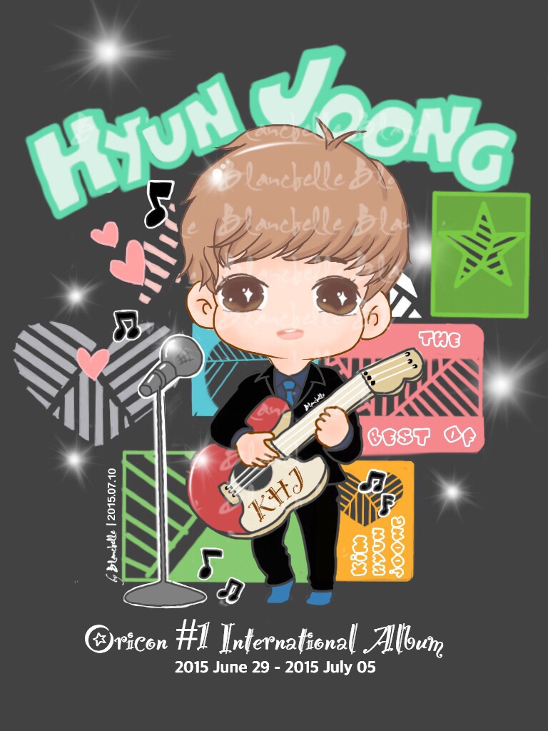 [Fan art] Kim Hyun Joong Oricon Weekly Western Album Ranked Number One [15.07.10]