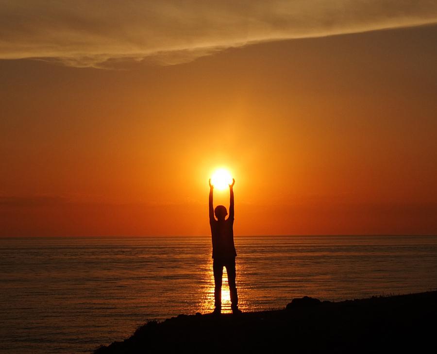 عکس زیبا از غروب خورشید