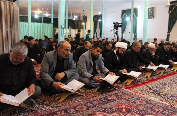 مراسم شبی با قرآن در روستای معدن سفلی