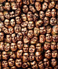 عکس مفهومی از چهره انسان ها