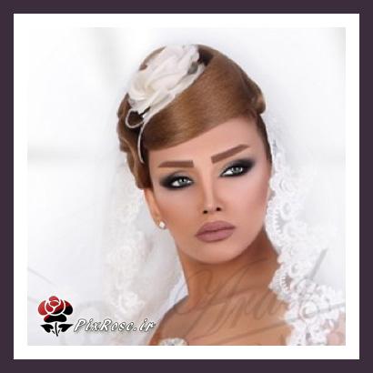 مدل آرایش و شینیون عروس 94