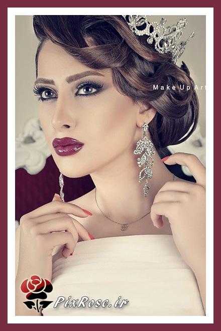 جدیدترین میکاپ و آرایش عروس زیبا ایرانی , آرایش عروس و مدل موی عروس , جدیدترین میکاپ , آرایش عروس زیبا , آرایش عروس زیبا ایرانی , مدل شینیون موی بسیار زیبا , عکسهایی از آرایش زیبای عروس شينيون هاي مدرن , تاج وتور , رنگ مو , مش , لايت , هاشور ابرو , خط چشم , رژ لب , رژگونه , خط لب , اپيلاسيون , شينيون کلاسيک , براشينگ حرفه اي