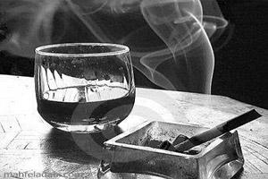 عکس کافه و سیگار