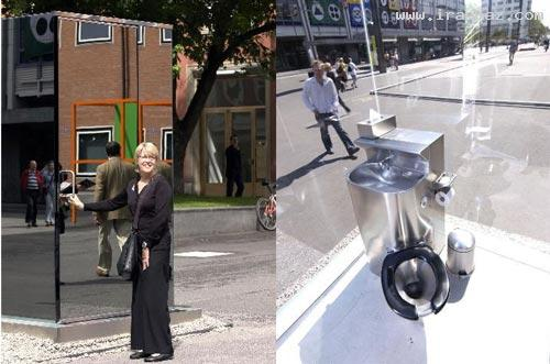 توالت عمومی شیشه ای در سوئیس+عکس , جالب و خواندنی