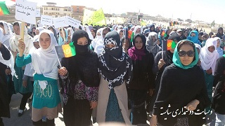 گردهمایی اعتراضی مردم و نمایندگان دایکندی در کابل برضد کنفرانس خیانت به سرنوشت مردم دایکندی
