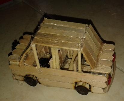 کاردستی با چوب ماشین