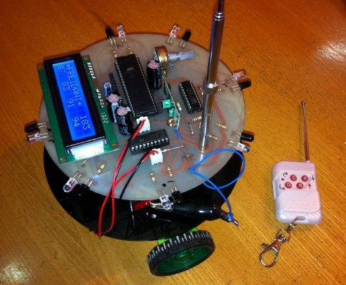 ربات مسیریاب با تشخیص مانع