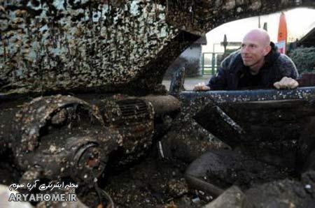 ماشین این آقا پس از هفت سال کف دریا پیدا شد , جالب و خواندنی
