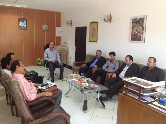 نشست دوستانه با رئیس جدید اداره ارشاد اسلامی فومن