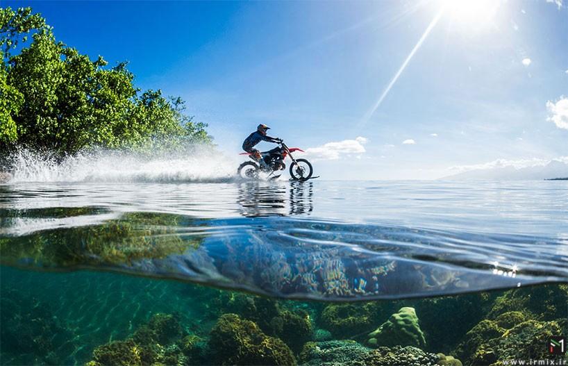 تصاویر غیر عادی از موتور سواری