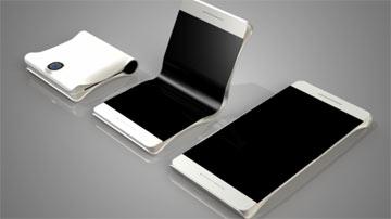 اولین گوشی هوشمند که از وسط تا می شود!! , موبایل