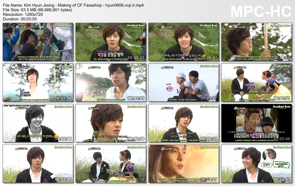 Kim Hyun Joong - Making of CF Faceshop