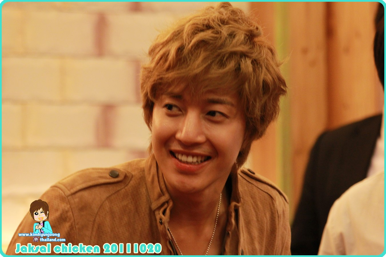 [Fancam+Photos] Hyun Joong @ the Opening of Jaksal Ilsan Branch [2011.10.20]