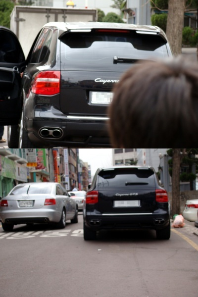 Photo - Kim Hyun Joong Car - Porsche Cayenne GTS - 2010.03.21