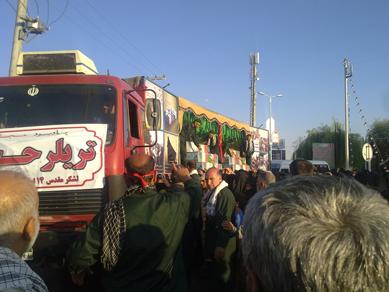 19 - کاروان آلاله های گمنام غواص به شهرستان فلاورجان رسید/گزارش تصویری از شهر قهدریجان