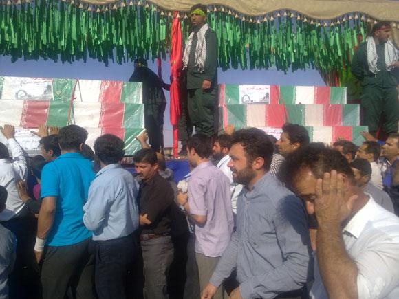 کاروان آلاله های گمنام غواص درشهرستان فلاورجان/میدان جانبازان شهر فلاورجان