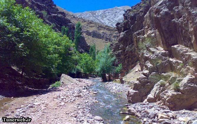 تصویری از منطقه ایسق سو روستای حمام قلعه در کلات نادر