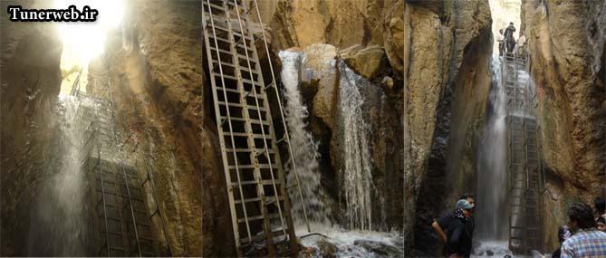 نمایی از آبشارهای زیبای قره سو شهرستان کلات نادر
