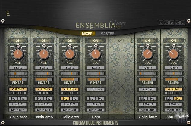 دانلود رایگان وی اس تی ارکسترال Cinematique Instruments Ensemblia 1.5