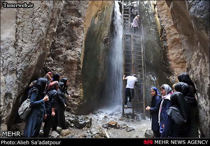 تصویری از آبشارهای زیبای قره سو کلات نادر