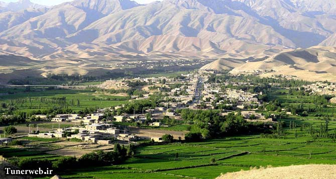تصویری زیبا از دورنمای روستای لاین کلات نادر