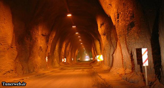 تصویری از درون تونل شهر کلات نادر