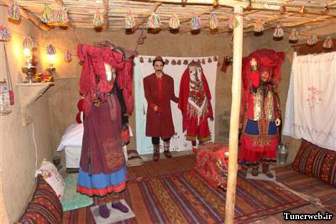 تصویری از غرفه آداب رسوم و ازدواج موزه ی مردم شناسی شهرستان کلات نادر