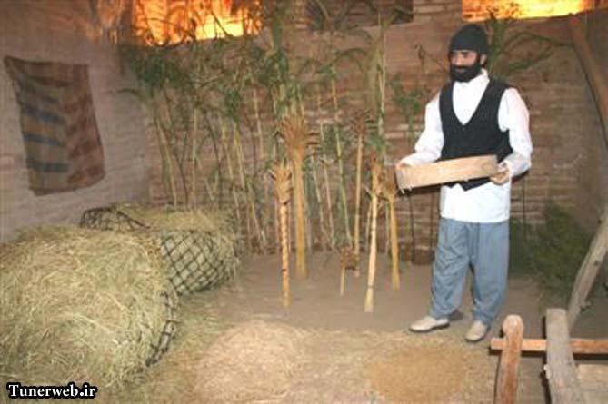 تصویری از غرفه کشاورزی موزه مردم شناسی شهرستان کلات نادر