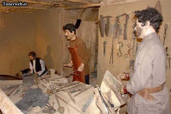 تصویری از غرفه آهنگری موزه مردم شناسی شهرستان کلات نادر