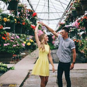 عکس رقص دو عاشق در گلخانه!