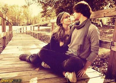 عکس عاشقانه دو عشق روی پل