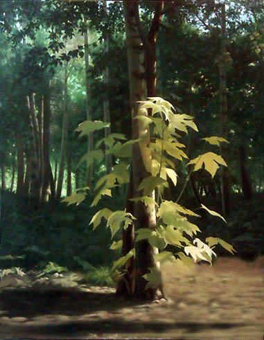 تابلو نقاشی پارک جنگلی کرج / اثر استاد کهنموئی
