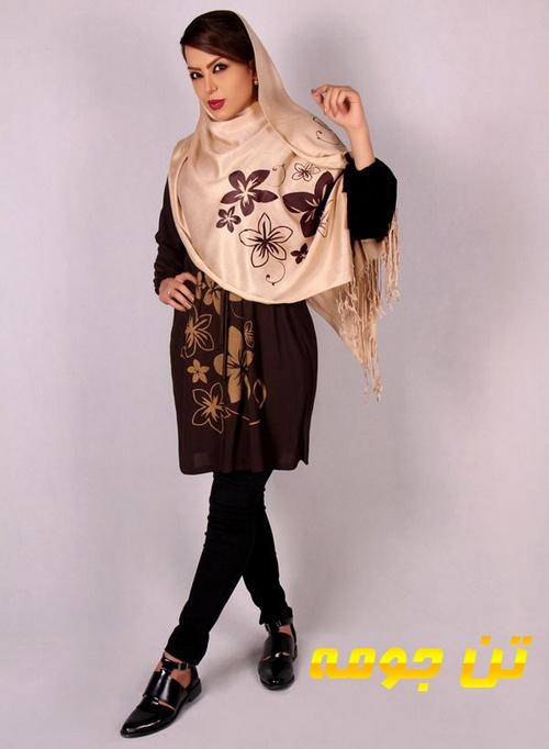 خرید مانتو ریون و شال زنانه دخترانه گل و بوته