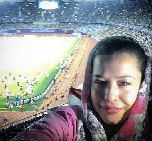 مهراوه شریفینیا در بین تماشاگران سوپرجام اروپا + عکس , عکس بازیگران