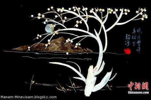 خلق آثار هنری با استخونهای ماهی