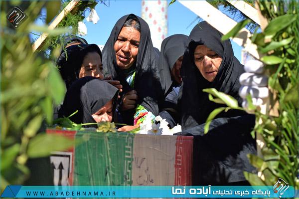 تشییع شهدای گمنام بهمن . مردم قدر شناس شهر بهمن برای شهدای گمنام سنگ تمام گذاشتند
