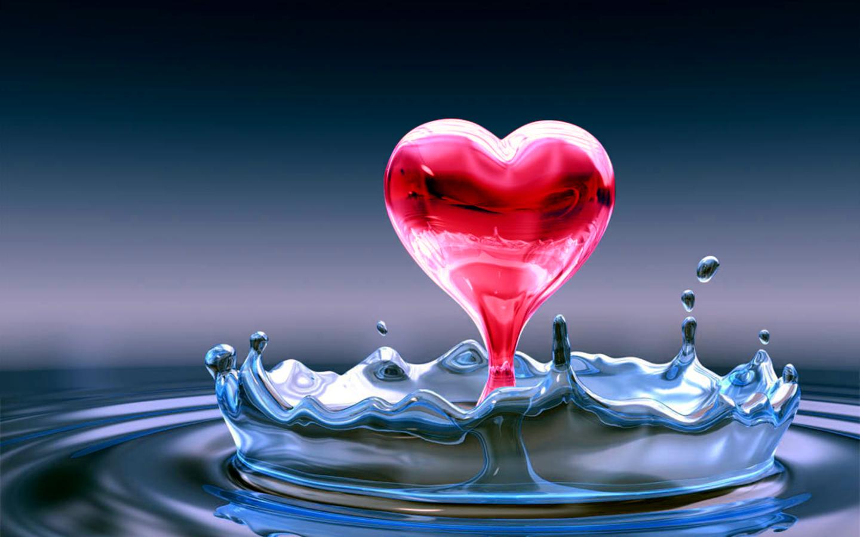 تصویر قطره ی قلب