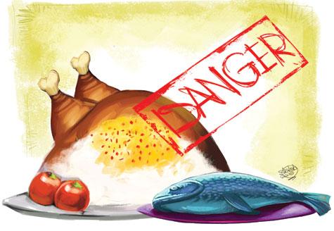 ردپاي سرطان در مرغ و ماهي !! , سلامت و پزشکی
