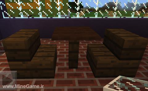 چگونه در minecraft میز و صندل بسازیم؟
