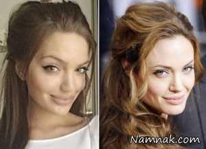 دختری که شبیه آنجلینا جولی است , چهره های معروف