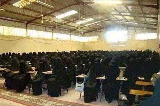 کلاس درس دختران داعش + عکس , اخبار گوناگون