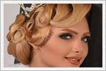 شیک ترین مدل های آرایش و شینیون عروس ایرانی